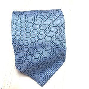 Brooks Brothers 346 Pure Silk Blue Geometric Tie